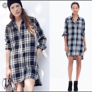 Madewell Flannel Daywalk Shirtdress Sz Medium